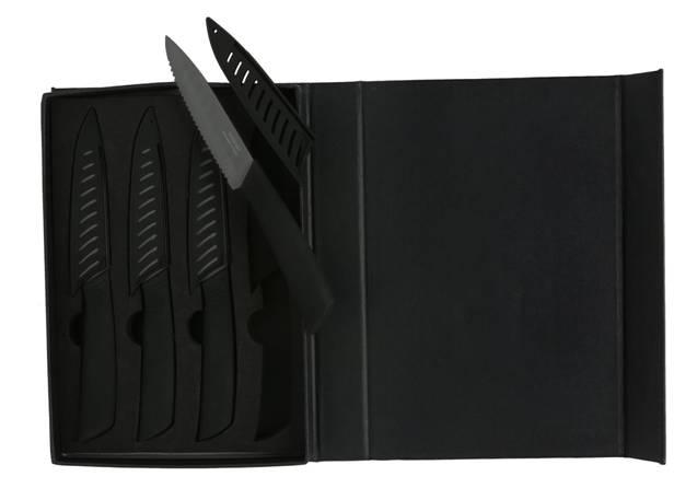 Melange Black Ceramic Steak Knife Set