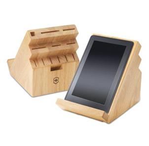 wooden kitchen knife storage block