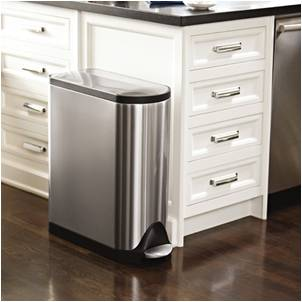 Superieur Stainless Steel Step Trash Can