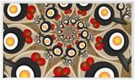 Red Black Washable Kitchen Rug