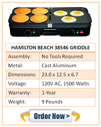 Hamilton Beach 38546 Electric Pancake Griddle