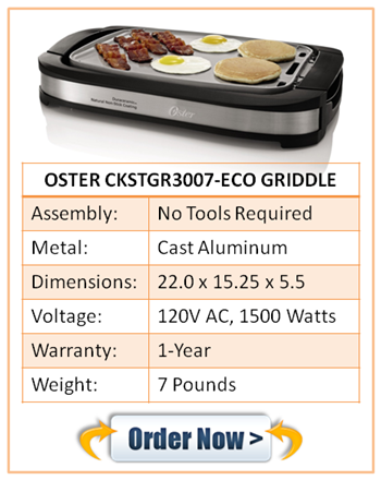 OSTER CKSTGR3007-ECO GRIDDLE