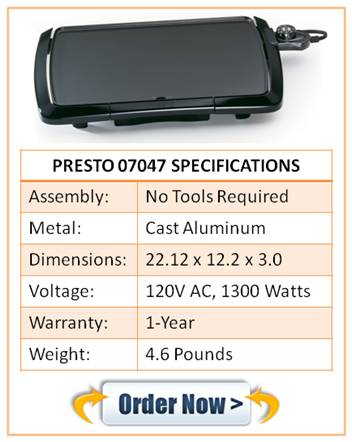 Presto Electric Pancake Griddle 07047