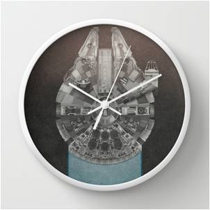 Star Wars Millennium Falcon Wall Clock
