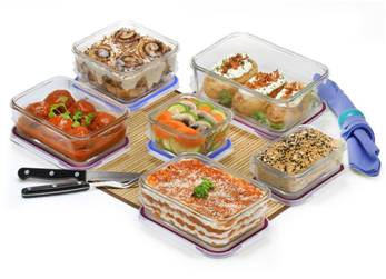 PopIt! 12-Piece Borosilicate Glass Food Storage Set