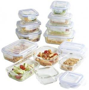 VonShef 24-piece Glass Food Storage Containers