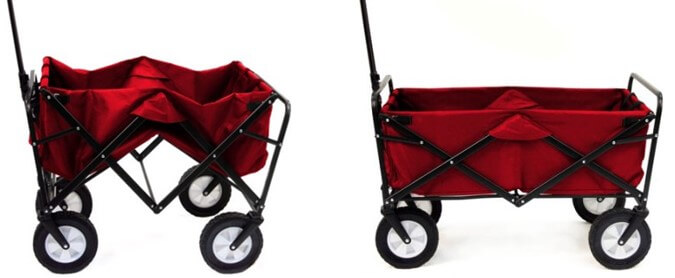 MAC Sports Folding Utility Wagon for Kitchen