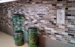 Kitchen Glass Mosaic Tile Backsplash