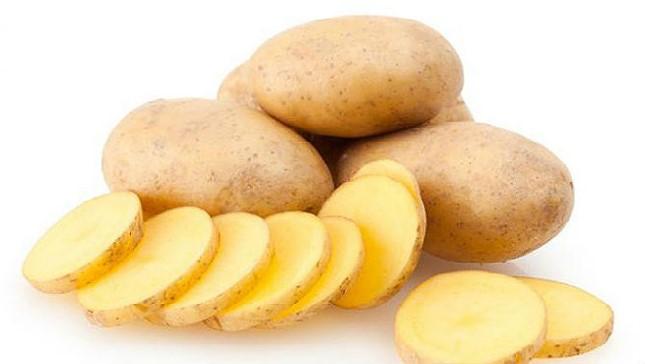 Raw Sliced Potatoes