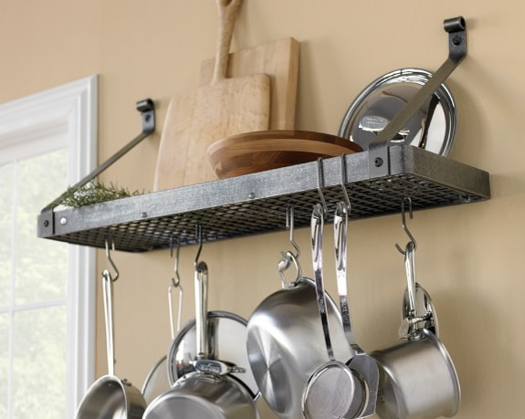 Wall Mounted Pot Rack For Kitchen