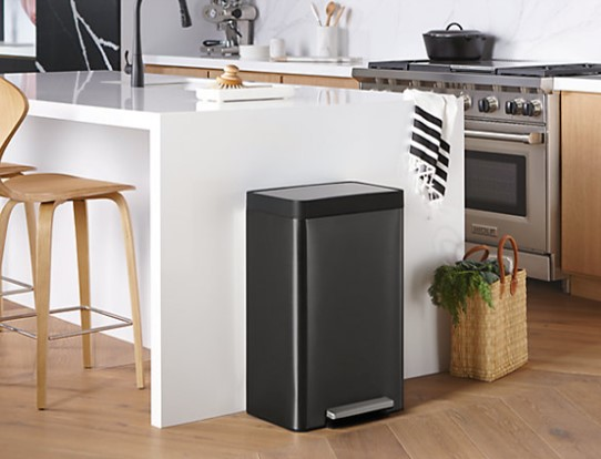 Kitchen Black Stainless Steel Trash Cans Guide